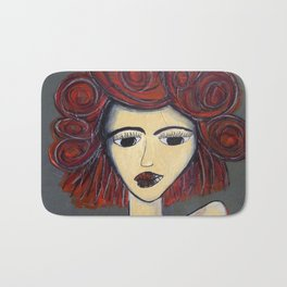 Fire Woman Bath Mat