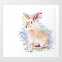 Anyone got a carrot? Art Print