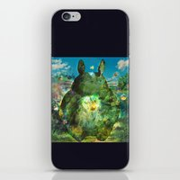 calcifer iPhone & iPod Skins featuring best neighbor  by ururuty
