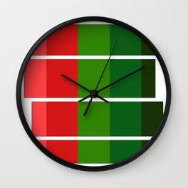 Christmas color bar Wall Clock
