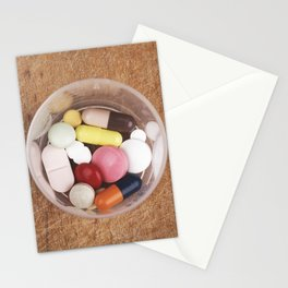 Tablets pills overdose Stationery Cards