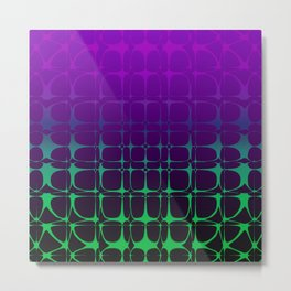 Gradient Bubble Pattern (Purple/Green) Metal Print