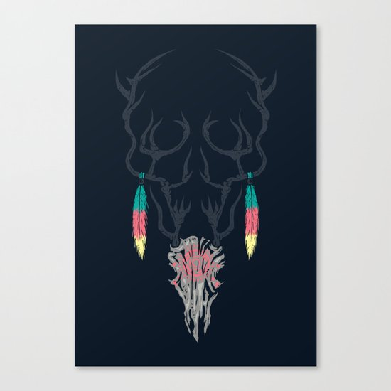 Darkness Within (Color Ver.) Canvas Print