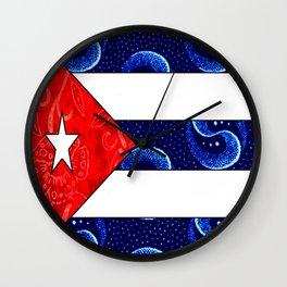 Vintage Cuban Flag Wall Clock