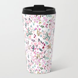 Sweetie Floral Hearts Travel Mug