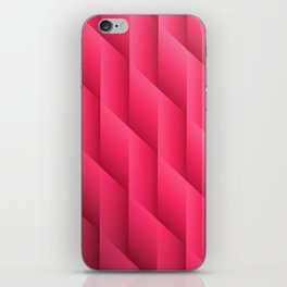 Gradient Pink Diamonds Geometric Shapes iPhone Skin