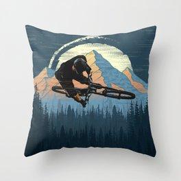 MTB Trick Throw Pillow