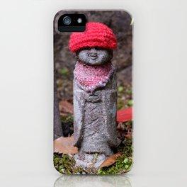 Cute jizo statues iPhone Case