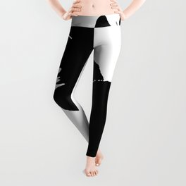 Life With Black Cats Vector Leggings
