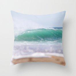 Sea Glass Waves Throw Pillow