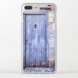 Old Blue Door Clear iPhone Case