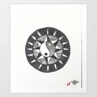 ying yang Art Prints featuring Ying Yang by zenart