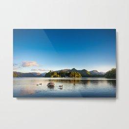 Ducks on Lake Derewentwater near Keswick, England Metal Print