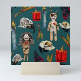 VoodoWitch Pattern #26 with Background Mini Art Print