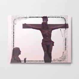 JESUS AND MARY IMAGE BOGOTA MONSERRATE Metal Print