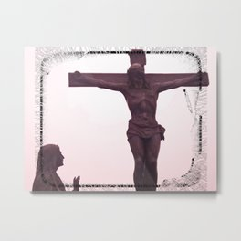 JESUS ​​AND MARY IMAGE BOGOTA MONSERRATE Metal Print