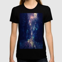 "Dream Train Tracks : ""Next Stop, Anywhere"" T-shirt"