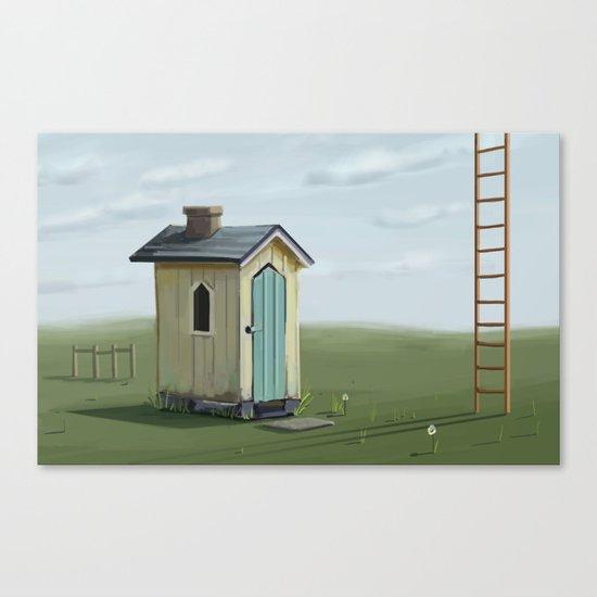 sky ladder Canvas Print