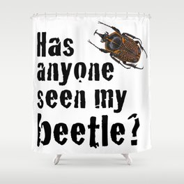 Beetle Search Shower Curtain