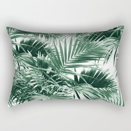Tropical Palm Leaf Jungle #1 #tropical #decor #art #society6 Rectangular Pillow