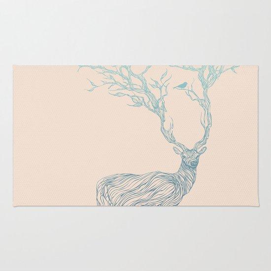 Blue Deer Rug