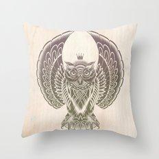 Silent Flight (Owl Wings) Throw Pillow
