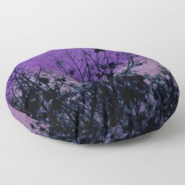 Raven Sentinel Floor Pillow