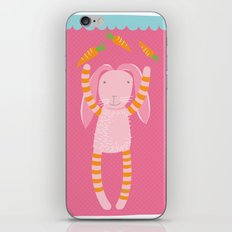 rabbits play with their food iPhone & iPod Skin