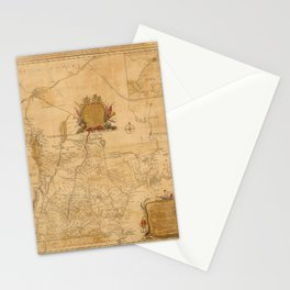 Map Of New Hampshire 1784 Stationery Cards