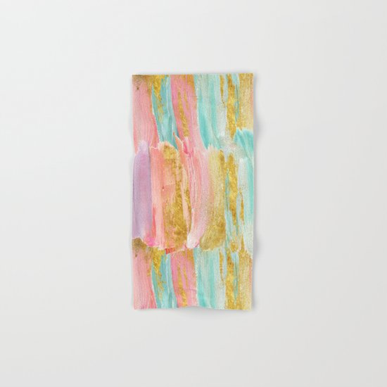 Gilded pastels Hand & Bath Towel