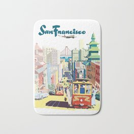 Sanfrancisco vintage mode Bath Mat