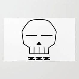 Zzz Skull Rug