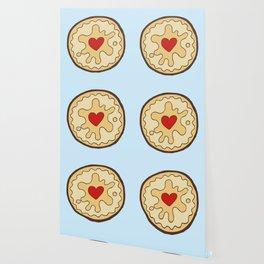 Jammy Dodger British Biscuit Wallpaper