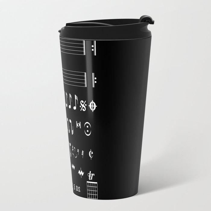 Musical Notation Negative Travel Mug