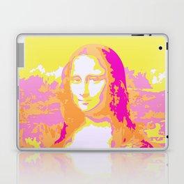 Monna Lisa in Pink/Yellow Laptop & iPad Skin
