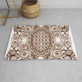 Renaissance Zentangle Tile Doodle Design Rug