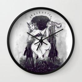 Night Nymphs Wall Clock