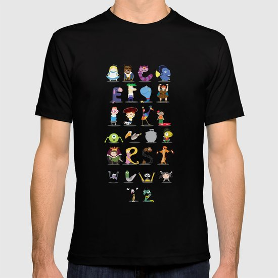 Animated characters abc T-shirt
