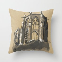 Ruin of Wernerkapelle, Bacharach, Germany Throw Pillow