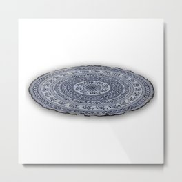 Indian Mandala Roundie Beach Throw Tapestries Metal Print