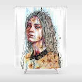Efflorescence Shower Curtain