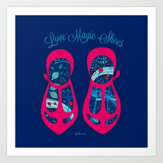 MAGIC SHOES Art Print