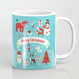 Christmas icons illustration Coffee Mug