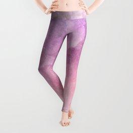 Pink Watercolor Texture Leggings