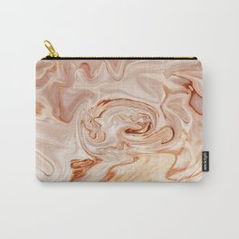 Nude Liquid Marble Carry-All Pouch