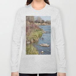 Ducks on the Bow River Long Sleeve T-shirt