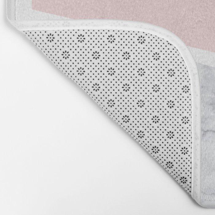 Blush, gray & marble geo Bath Mat