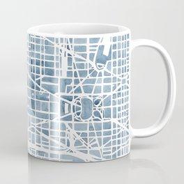 Washington DC Blueprint watercolor map Coffee Mug