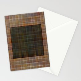 Patched plaid tiles pattern Stationery Cards