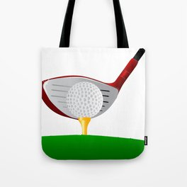 Teeing Off Golf Tote Bag